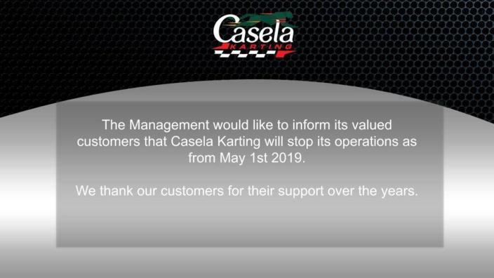 Le Casela Karting, c'est fini !