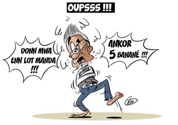 """L'actualité vu par KOK : """"Donn mwa enn lot manda !"""""""
