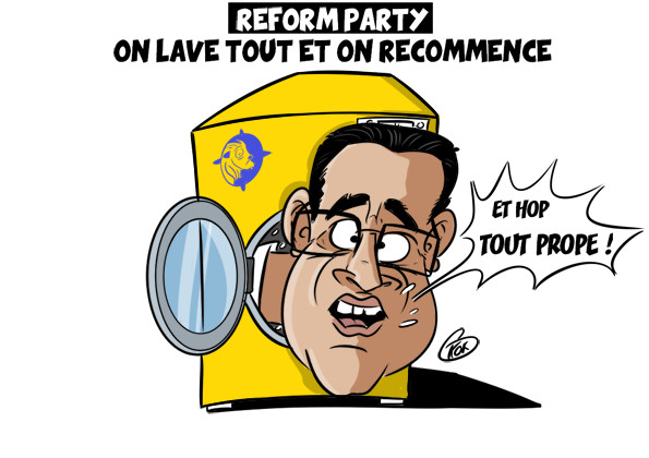 [KOK] Le dessin du jour : Reform Party, on lave tout et on recommence