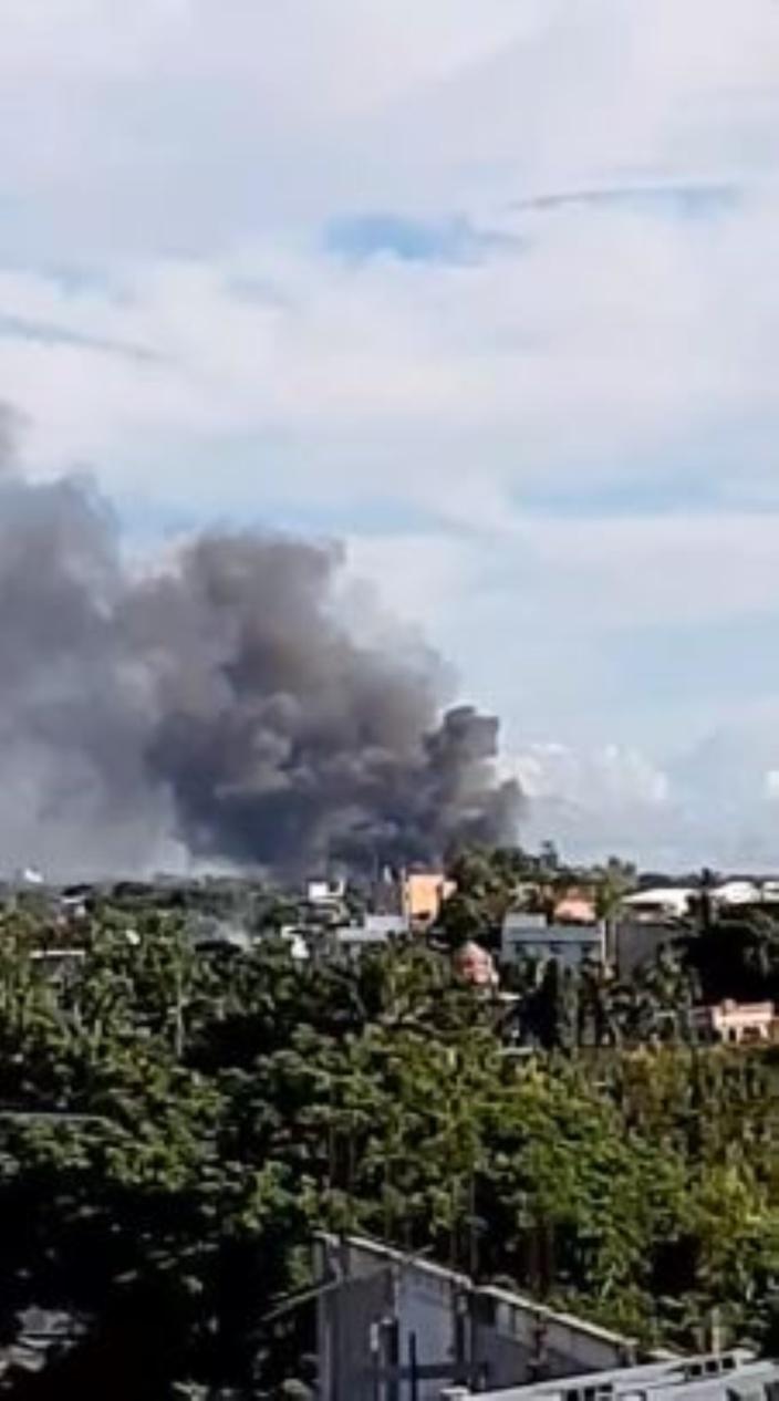 Baie du Tombeau : Incendie en cours dans une usine