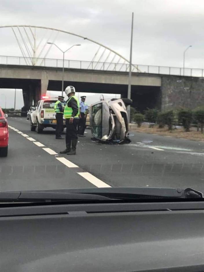 Accident à Bagatelle, la circulation fortement perturbée en direction de Port-Louis