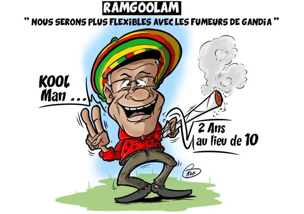 """L'actualité vu par KOK : Ramgoolam : """"Nous serons plus flexibles avec les fumeurs de cannabis """""""