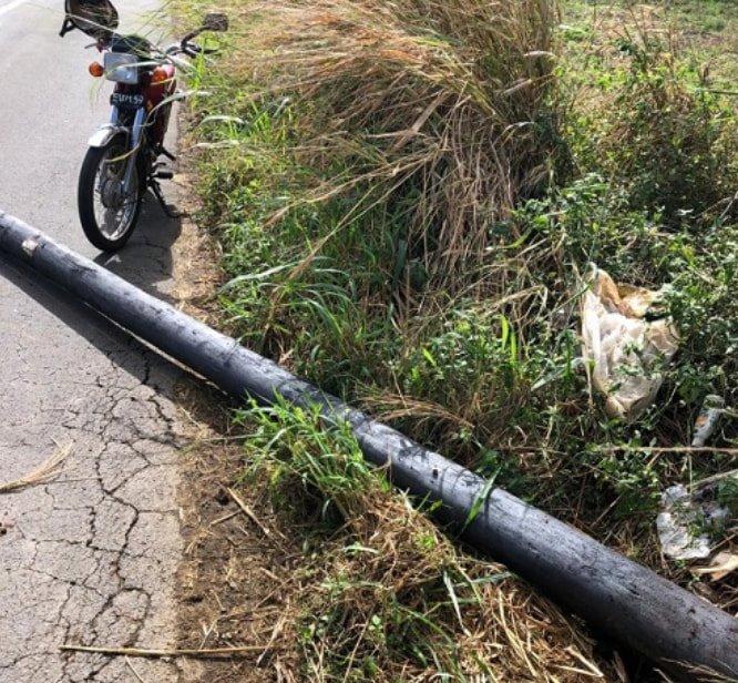 Grand-Baie : Un pylône électrique a grièvement blessé un motocycliste
