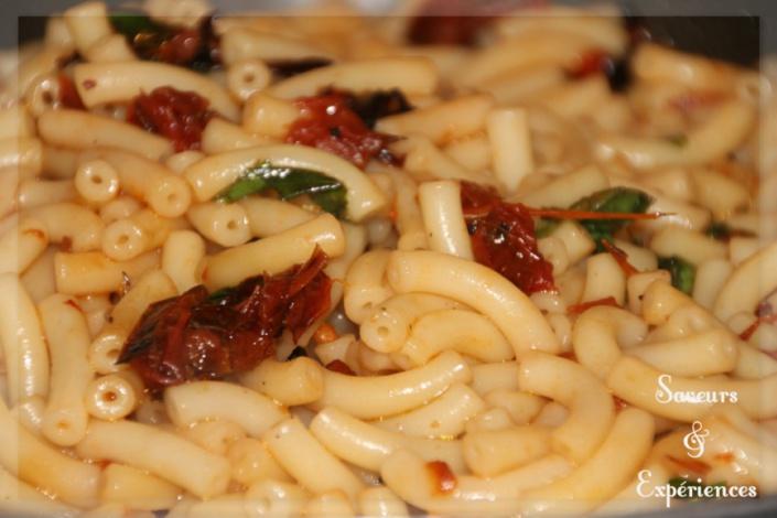 La recette de Emmanuelle : Pâtes aux Tomates Confites & Basilic