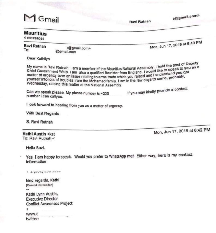 Ravi Rutnah va jusqu'à contacter Kathi Lynn Austin pour nuire aux Mohamed