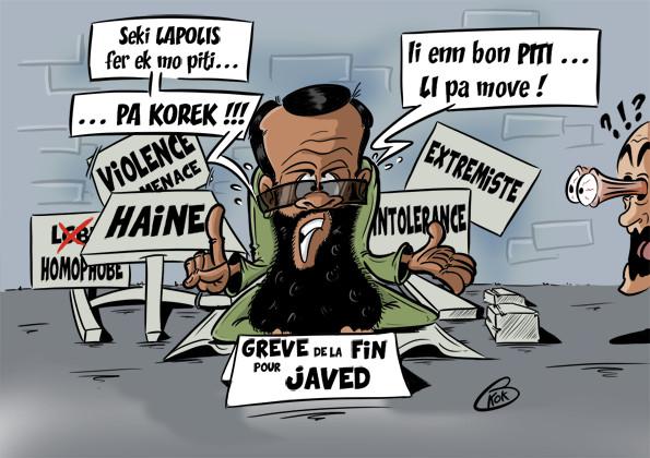 [KOK] Le dessin du jour :  Le père de Javed Meetoo envisage d'entamer une grève de la faim