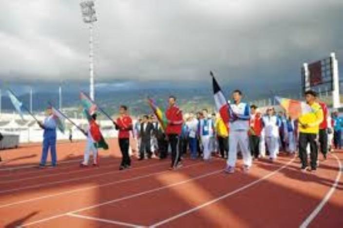 Cérémonie des Jeux des îles 2019 : Les Présidents des Maldives, Seychelles et Madagascar à Maurice