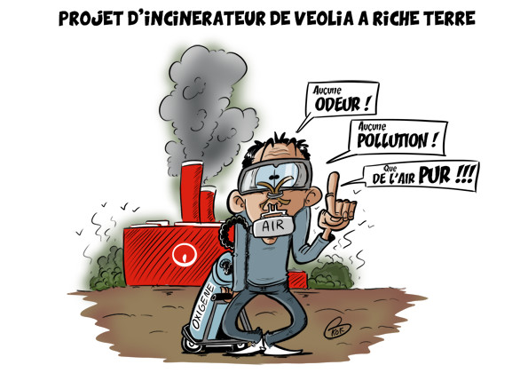 [KOK] Le dessin du jour : Projet d'incinérateur de Veolia à Riche Terre