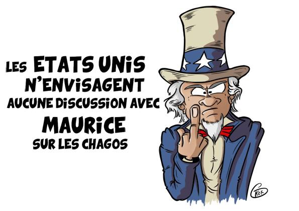 [KOK] Le dessin du jour : Les Etats-Unis n'envisagent aucune discussion avec Maurice sur les Chagos