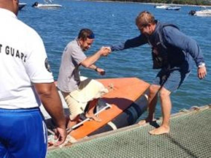 Le touriste russe retrouvé sain et sauf après plus de 20 heure en mer