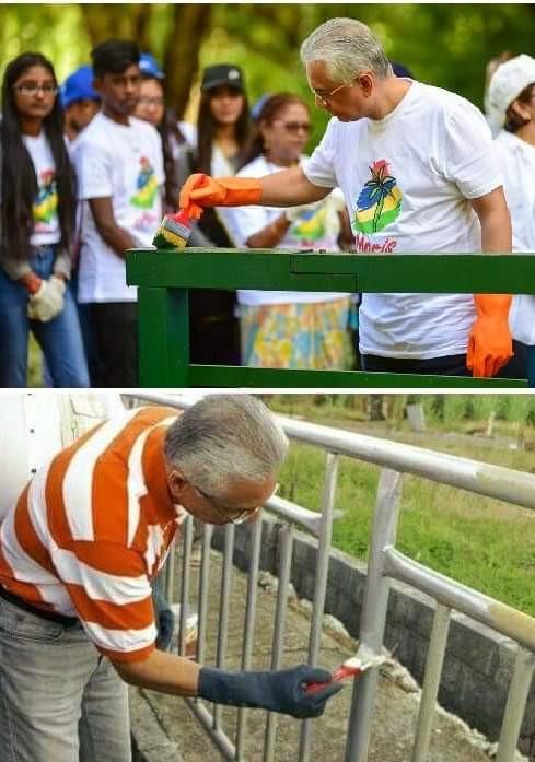 Deux ans séparent ces photos. Une campagne de nettoyage recyclée à quelques mois de l'échéance électorale.