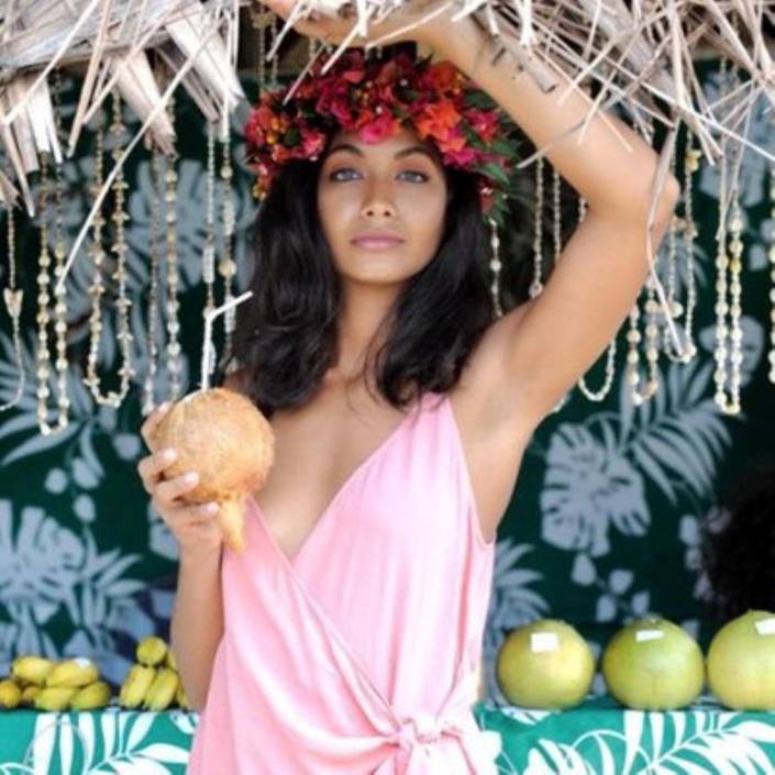Vaimalama Chaves - Miss France 2019 de passage à l'île Maurice