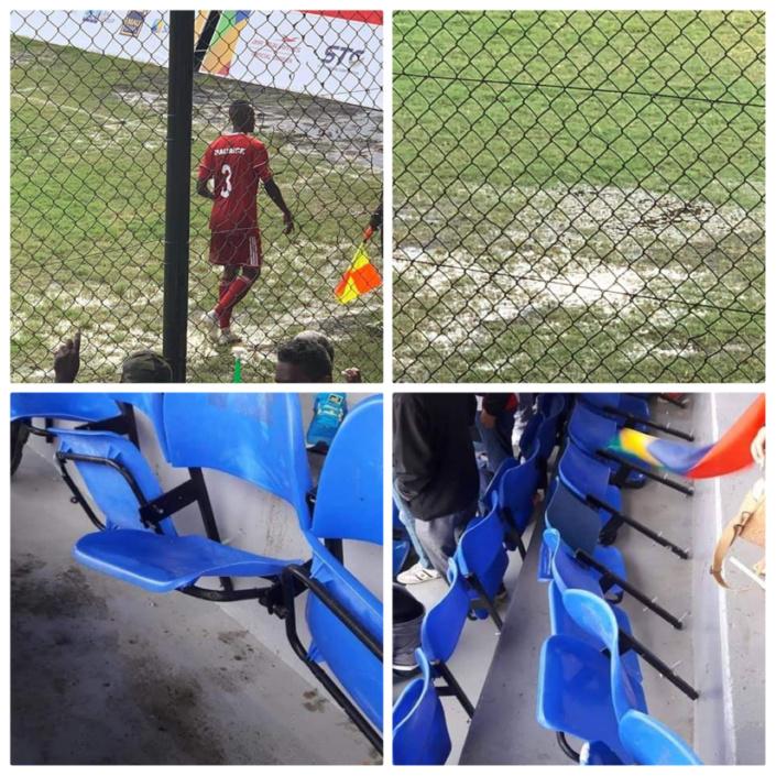 Jeux des îles : Match de football Maurice/Seychelles le 18 juillet 2019.