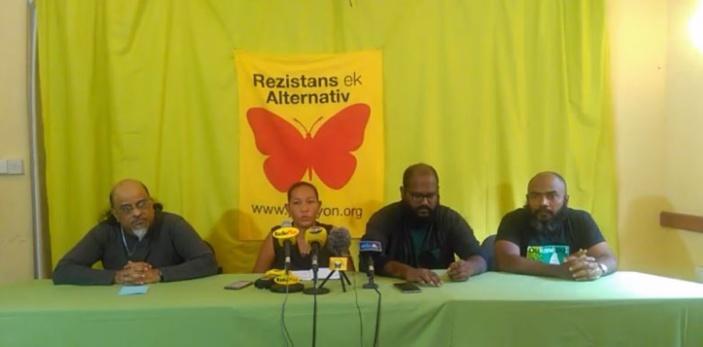 Rezistans ek Alternativ réclame la démission de Sinatambou
