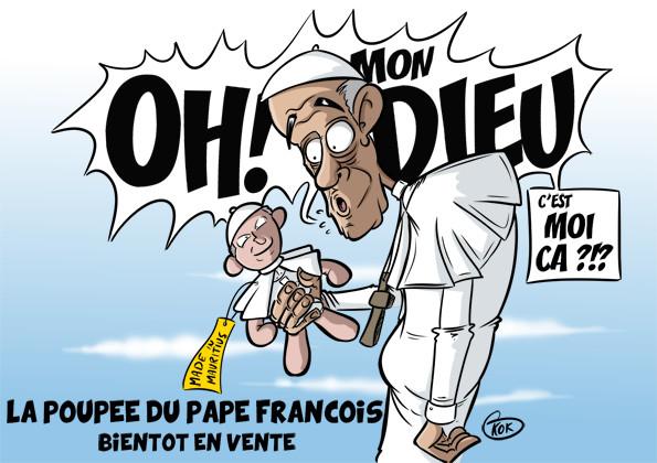 [KOK] Le dessin du jour : La poupée du pape bientôt en vente