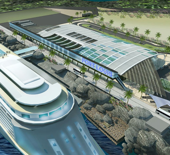 Port Louis Harbour Cruise Terminal, Mauritius.