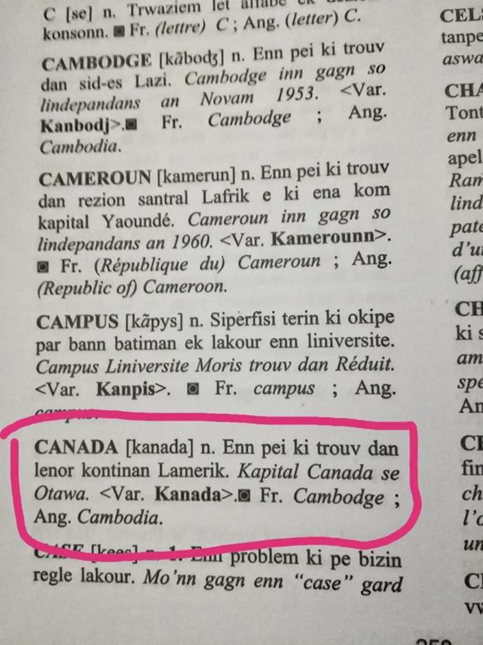 Les perles de la nouvelle édition du dictionnaire mauricien