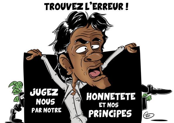 [KOK] Le dessin du jour : «Vous devez nous juger par notre honnêteté et nos principes »