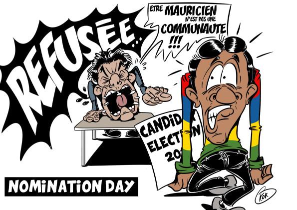 [KOK] Le dessin du jour : Des candidats mauriciens refusés lors du Nomination day