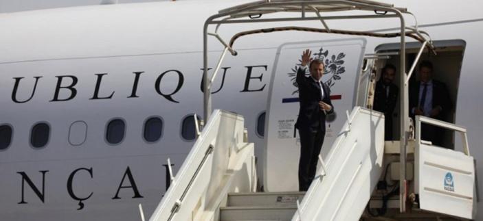 Les avions présidentiels du Président Macron stationnent à Maurice