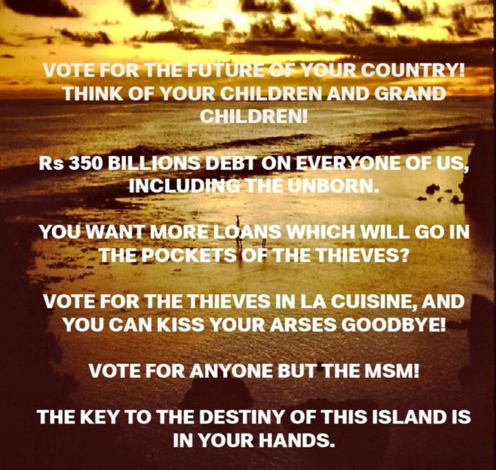 [Paul Lismore] ENA 1000 REZONS POU PA RE VOTE ENE GOUVERNMAN MAFIA ET VOLEURS. ALA ENE...