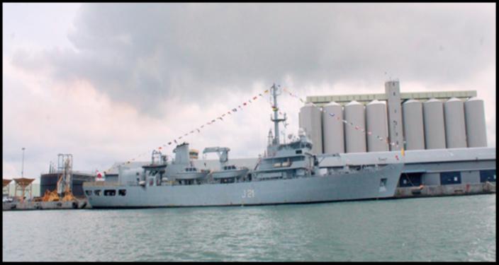 L'INS Darshak, navire indien, va cartographier les eaux territoriales mauriciennes