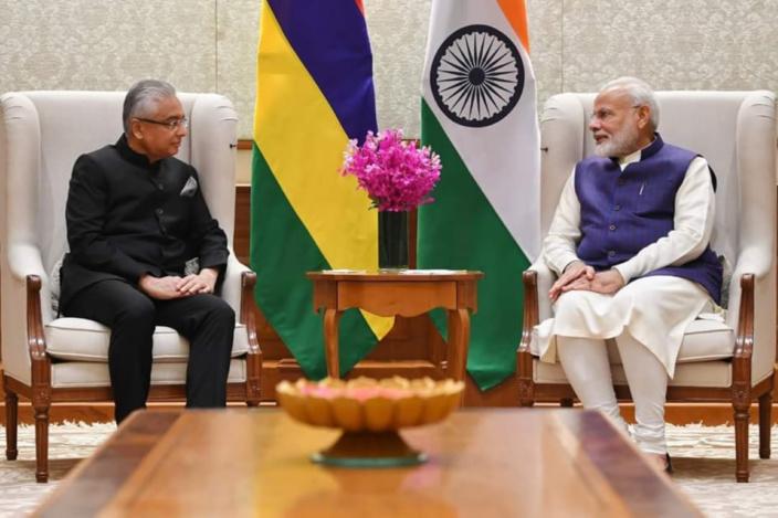 Pravind Jugnauth rencontre Narendra Modi