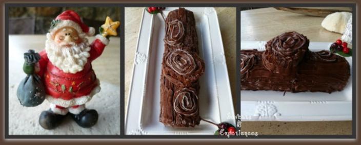 La recette de Emmanuelle : La Bûche de Noël Chocolat Marron sans Beurre