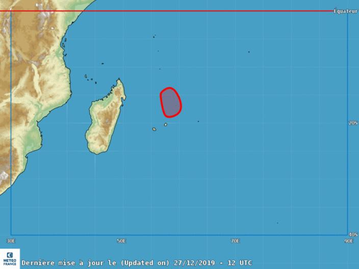 Futur Calvinia : Risque d'un passage à moins de 100 km à l'Ouest, à l'Est ou un 'direct hit' sur Maurice