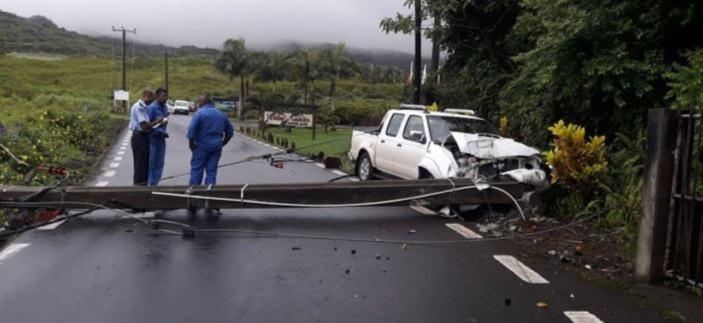 Accident impliquant un 4X4 à la Vallée des Couleurs