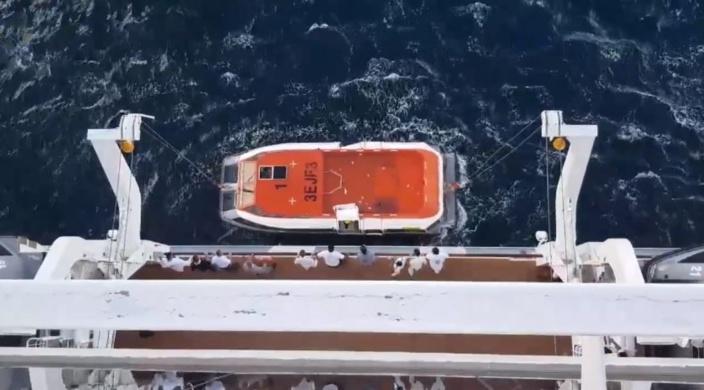 ▶️ A bord d'un bateau de croisière en route vers Maurice, un homme se jette en pleine mer