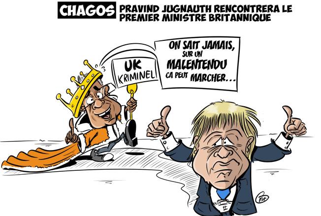 [KOK] Le dessin du jour : La rencontre Pravind Jugnauth et Boris Johnson