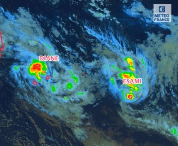 Après DIANE, voilà ESAMI ! Une nouvelle tempête tropicale évoluant loin des Mascareignes