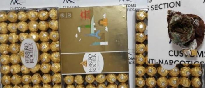 Plaisance : Saisie de Rs 1 million de cannabis dans du chocolat Ferrero Rocher