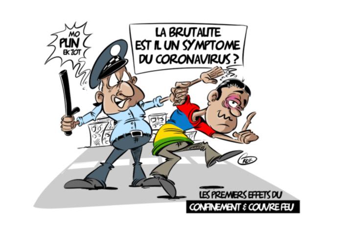 [KOK] Le dessin du jour : La brutalité est-il un symptôme du coronavirus ?