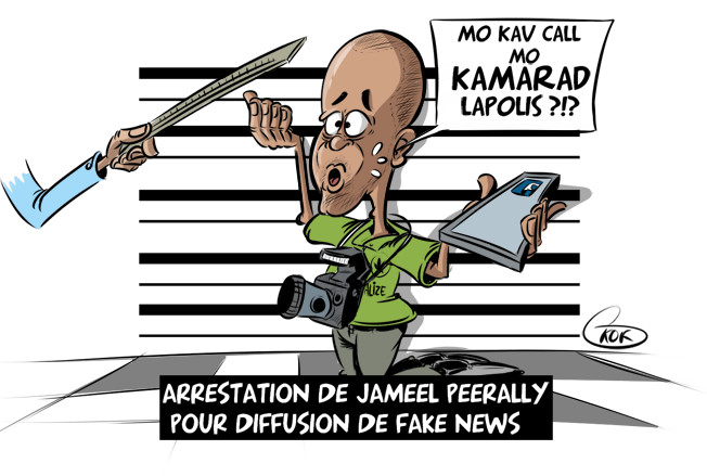 [KOK] Le dessin du jour : Arrestation pour diffusion de Fake News