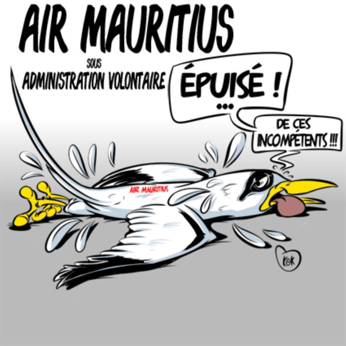 [KOK] Le dessin du jour : Air Mauritius sous administration volontaire