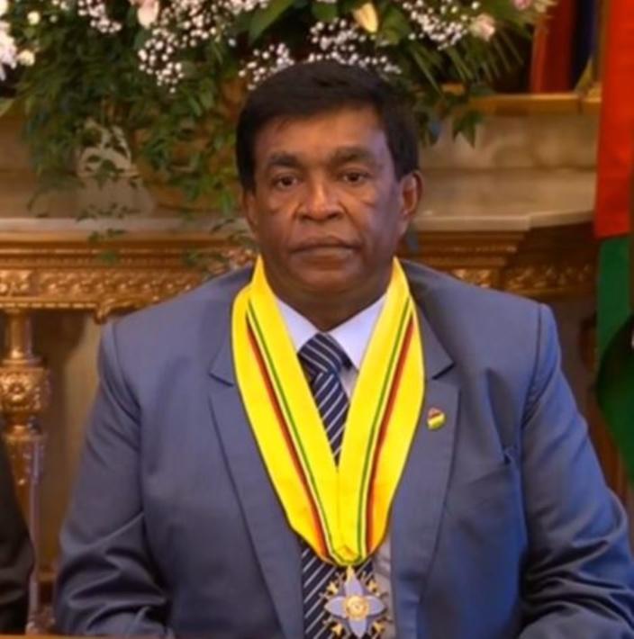 Les remerciements du président Pradeep Roopun à Balancy