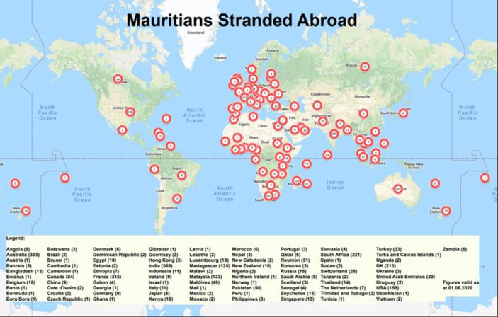 6 350 Mauriciens toujours bloqués dans le monde