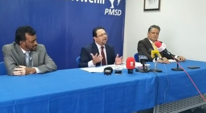 Appel du PMSD à Collendavelloo et Naidoo de démissionner