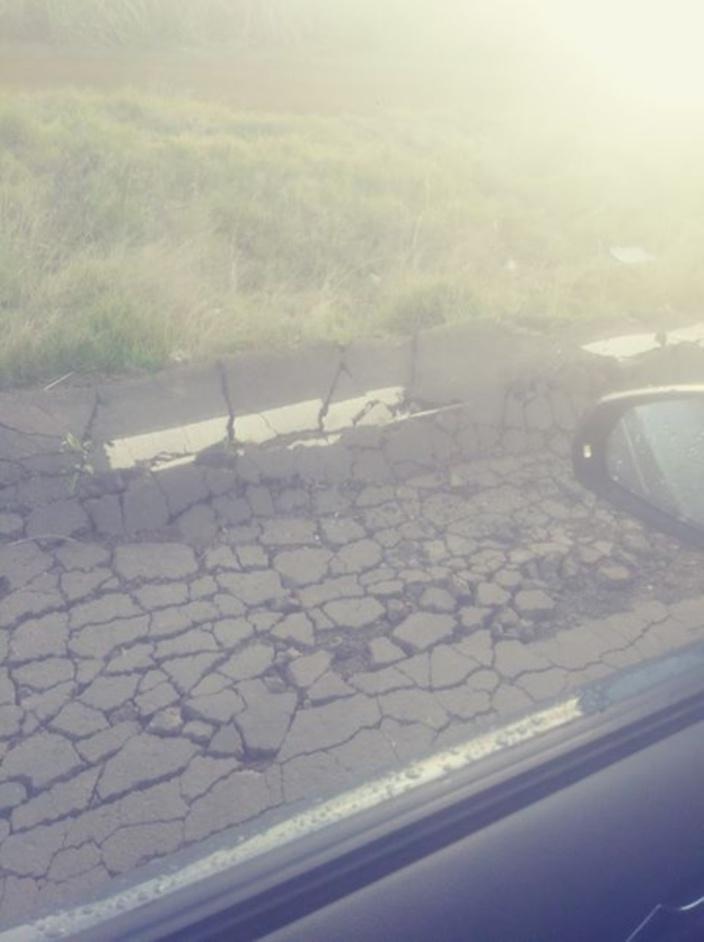 Routes en mauvais état : Attention si vous circulez sur la route de Bassin