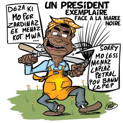 [KOK] Le dessin du jour : Roopun, un président exemplaire