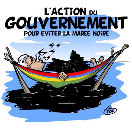 [KOK] Le dessin du jour : L'action du gouvernement pour éviter la Marée Noire