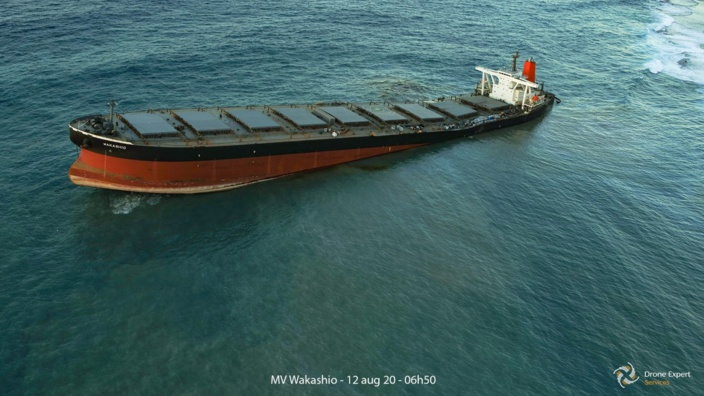 Wakashio : L'exercice du pompage d'huile devrait prendre fin ce mercredi