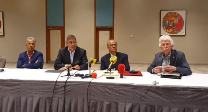 Les dirigeants du MMM, du PTr et du PMSD présents à la manifestation de Bruneau Laurette