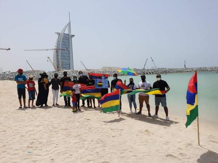 Marche du 29 août : A plus de 41°C à l'ombre, les Mauriciens en force à Dubaï