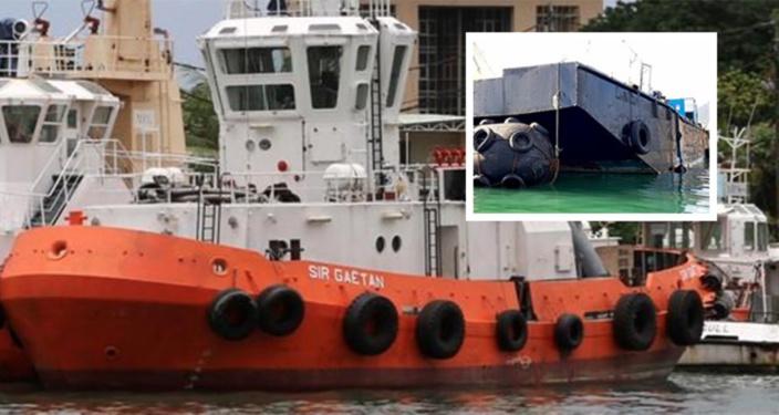 Oil Spill Contingency Plan activé : 25 tonnes de diesel à bord du Sir Gaëtan