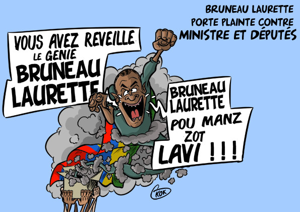 [KOK] Le dessin du jour : Bruneau Laurette porte plainte contre ministres et députés