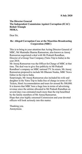 Qui protège Anooj Ramsurrun à la Mauritius Broadcasting Corporation ?