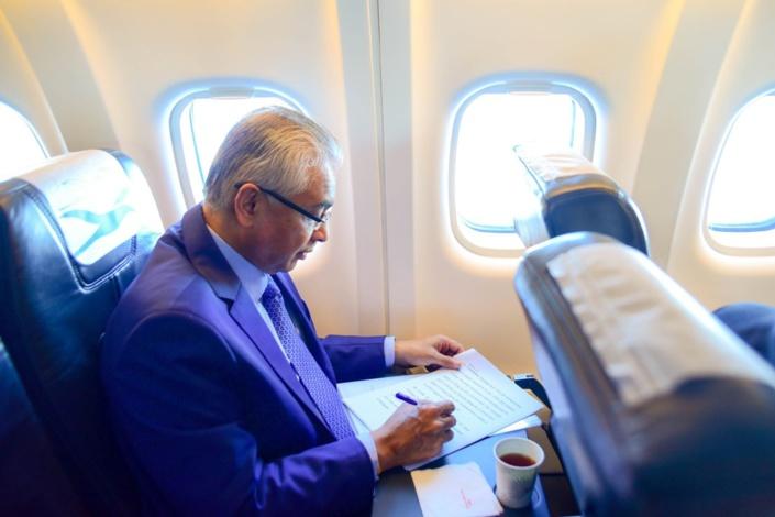 Pravind Jugnauth sur un vol vers Rodrigues en décembre 2019